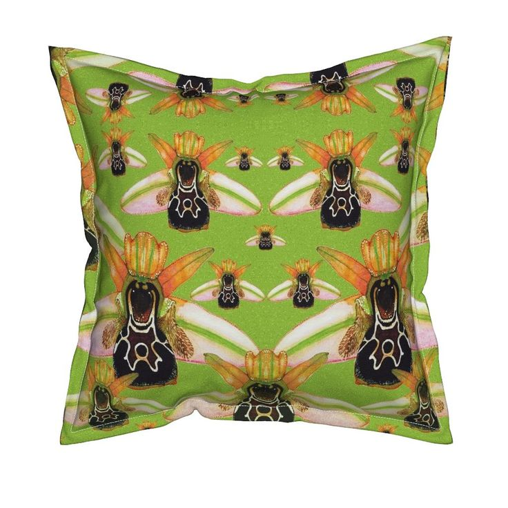 Serama Throw Pillow featuring O.Umbilicata by joancaronil   Roostery Home Decor