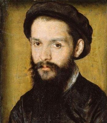 Clément Marot, portrait par Corneille de Lyon (1496-1544) 1536 ?