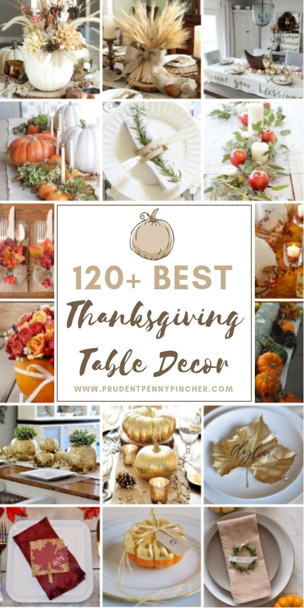 120 Best Thanksgiving Table Decorations Holiday Cheap Fall