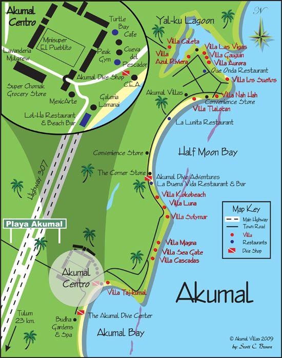 Fell in love Akumal. Less touristy than Tulum and Playa del Carmen ...