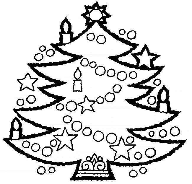 weihnachten ausmalbilder  christmas tree coloring page