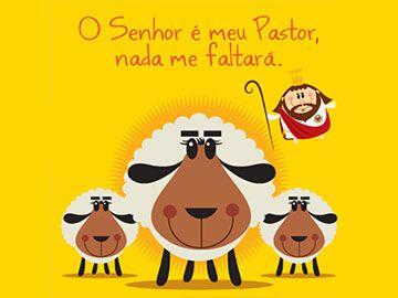 O Senhor é meu pastor, nada me faltará! #coisadesanto #oracoes #versiculos