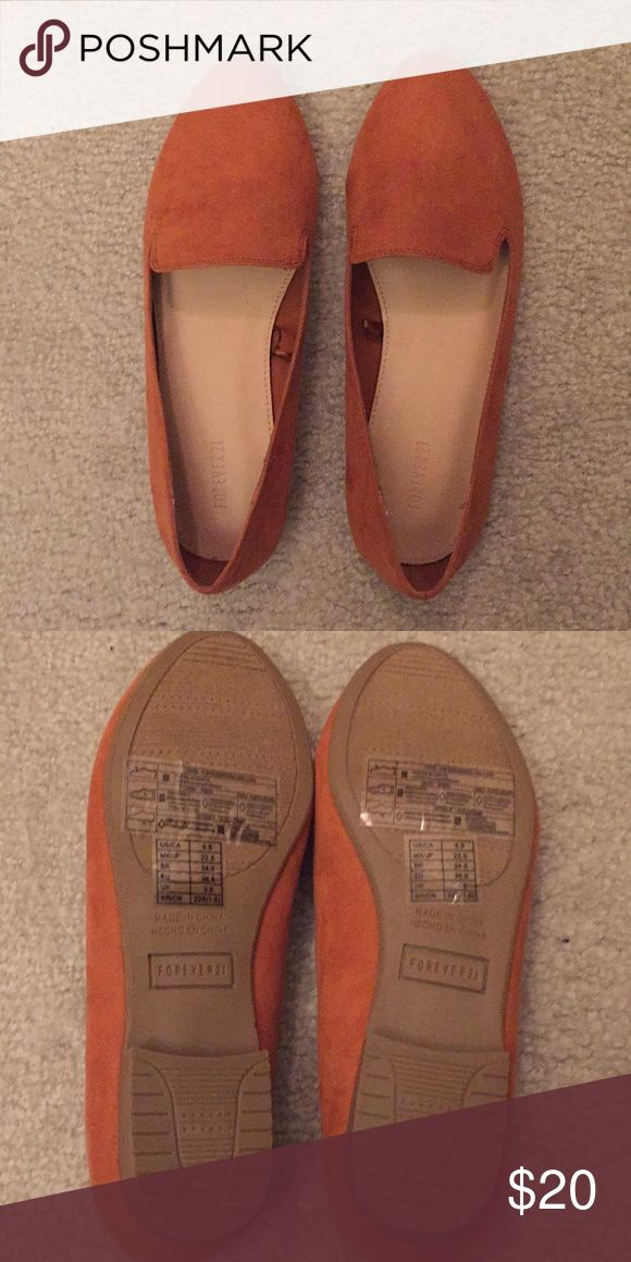 Forever21 suede brown flat shoes Suede brown flat shoes. Size 5.5. Never worn. Excellent condition. Forever 21 Shoes Flats & Loafers