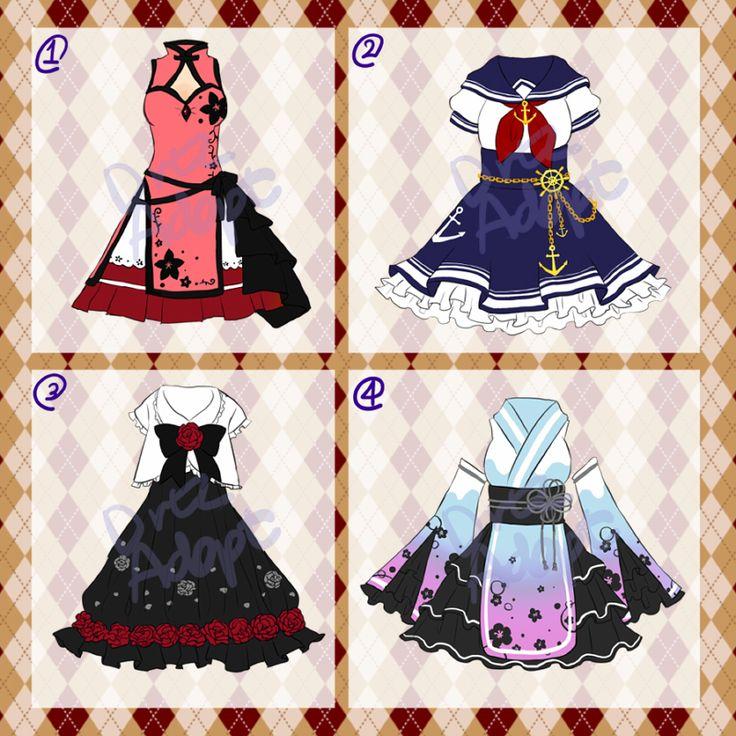 Adoptable : Dresses [CLOSED] by DrtzAdopt.deviantart.com on @DeviantArt