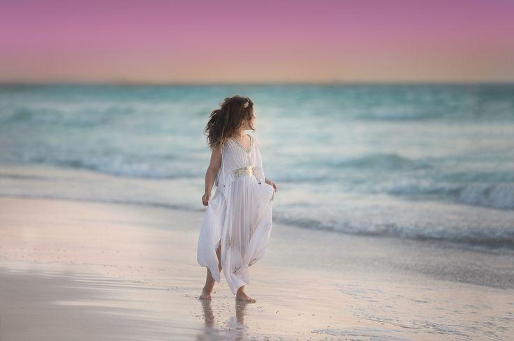 My daughter at sunset on mullaloo beach