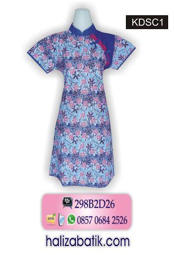 Dress batik murah. Baju dress batik shancai. Batik modern bahan katun. Warna dasar biru. Motif batik bunga. Baju batik dress resleting belakang model kerah sanghai.