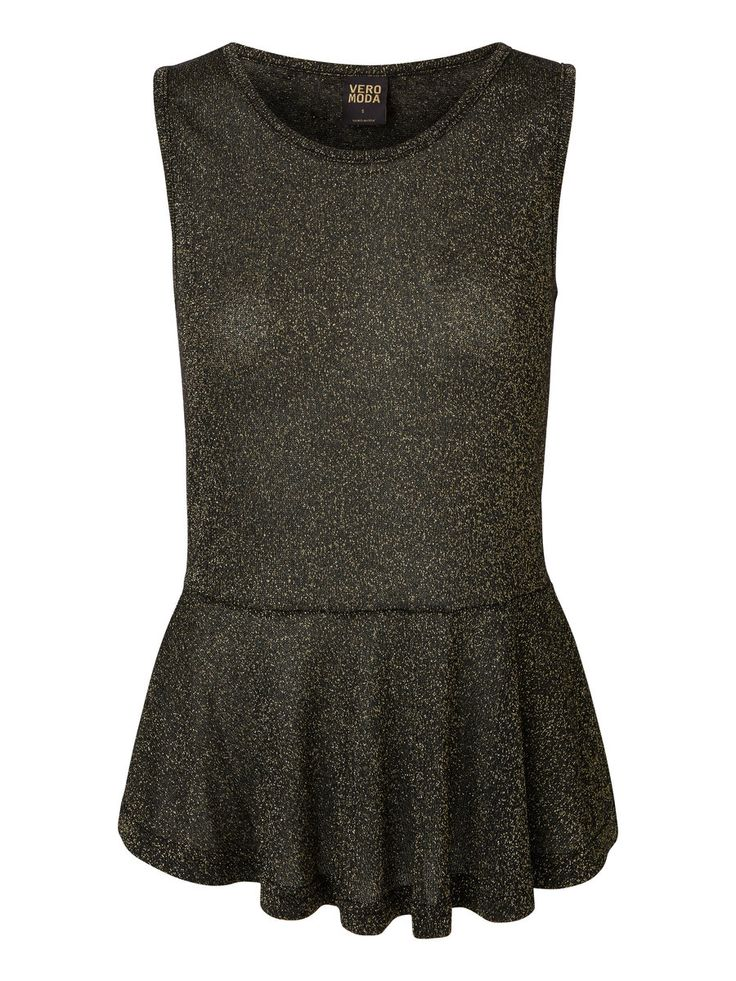 Peplum glitter top from VERO MODA. We love party wear! #veromoda #glitter #fashion