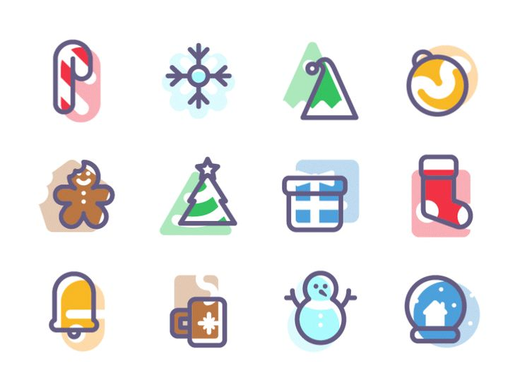 Freebie - Holidays Icon Set by Kreativa Studio