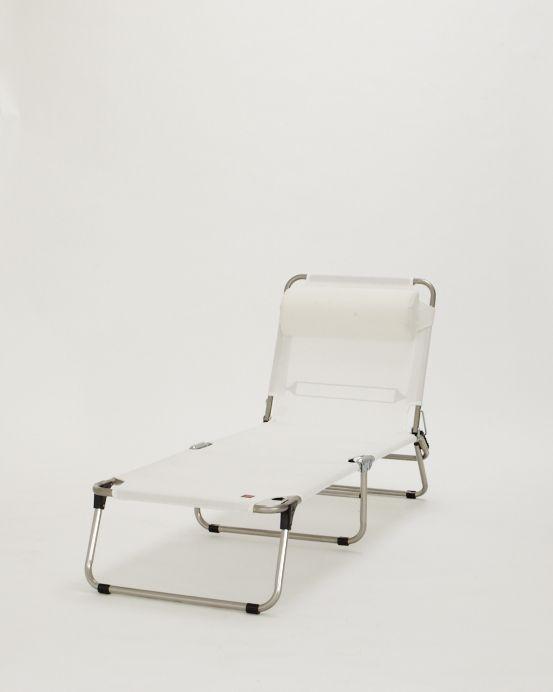 FIAM AMIGO INKL. NACKENROLLE Das besondere Angebot der Fiam Amigo Dreibeinliege inklusive Nackenrolle.  Die Möbel der Fiam Serie basieren auf einem Aluminium Gestell (unsere Materialien), das mit einem kräftigen Tuch aus Kunststoffgewebe bezogen ist. Es ist wetterfest und UV-beständig.
