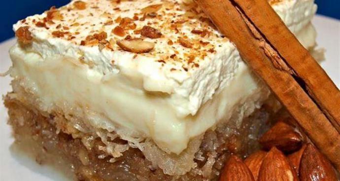 Κοινοποιήστε στο Facebook Εύκολο και πεντανόστιμο με αφράτη κρέμα βανίλια και φανταστική κρέμα με ζαχαρούχο!!! ΥΛΙΚΑ 300 γρ.φύλλο καταίφι 125 γρ.βούτυρο φρέσκο λιωμένο 100 γρ.φυστίκι αιγίνης ή αμυγδαλα τριμμένα (προαιρετικά) ΣΙΡΟΠΙ 2 κούπες ζάχαρη 1 κούπα νερό 1 βανίλια 1...