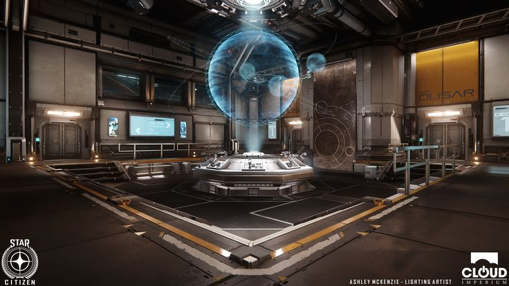 The screenshots on this page illustrate the lighting work I have done for the 2.4 update.   I had the responsibility of relighting the majority of Port Olisar and its new shop additions working in collaboration with the art director.  Rendered in real time in CryEngine.