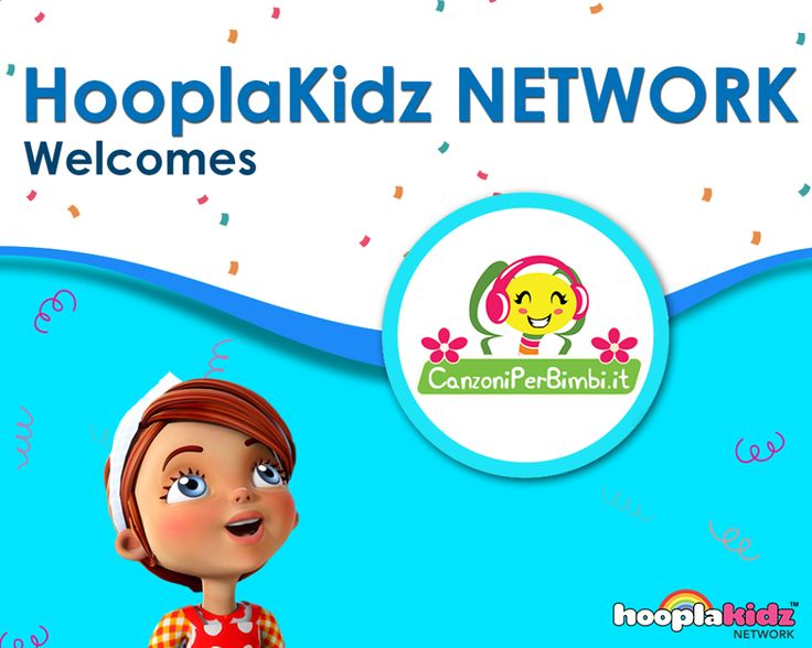 Please join us in welcoming Canzoni Per Bimbi. They are now part of HooplaKidz Network. Watch their videos here:
