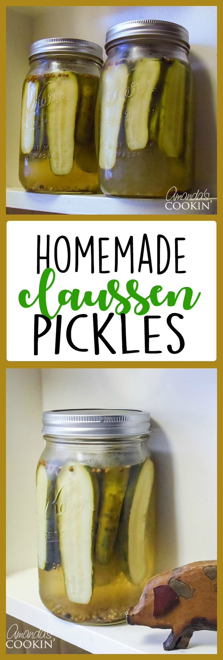 Learn to easily make homemade Claussen pickles! This Claussen pickle recipe is a copycat of course, but it's hard to tell the difference, they are so good!