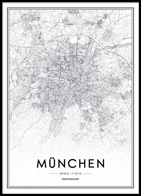Schwarz-Weiß-Poster mit stilvollem Design