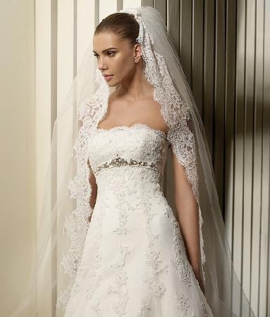 wedding gown veil