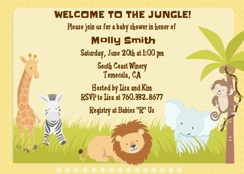 17 best images about baby shower invitations on pinterest baby shower safari jungle animals. Black Bedroom Furniture Sets. Home Design Ideas