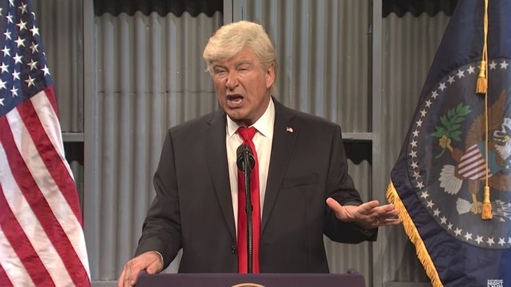 Actor Alec Baldwin joked Saturday that he could run against President Trump in 2020, saying that his entry into the race would make the presidential debates more entertaining.