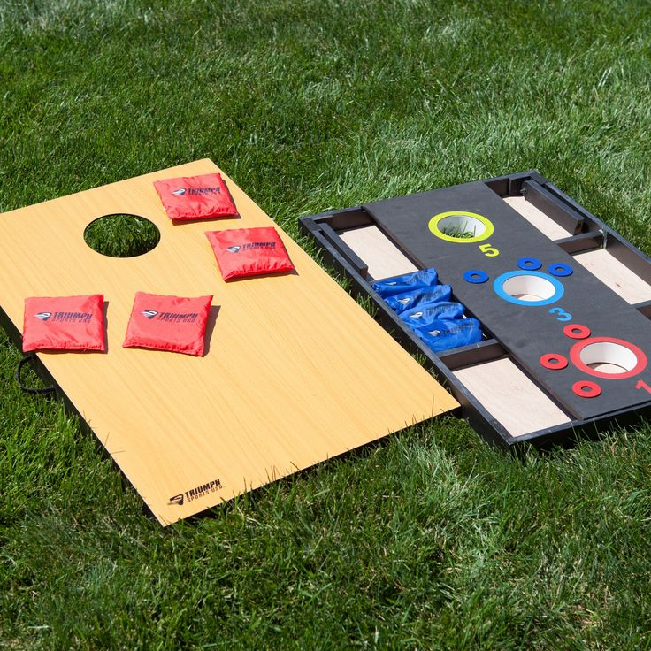 Triumph Sports 2-in-1 Cornhole and 3 Hole Washer Combo Set - 35-7054