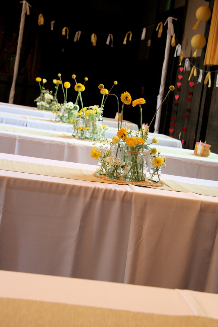 whimsical bottle centerpieces! What do you think @Diane Haan Lohmeyer Haan Lohmeyer frank?
