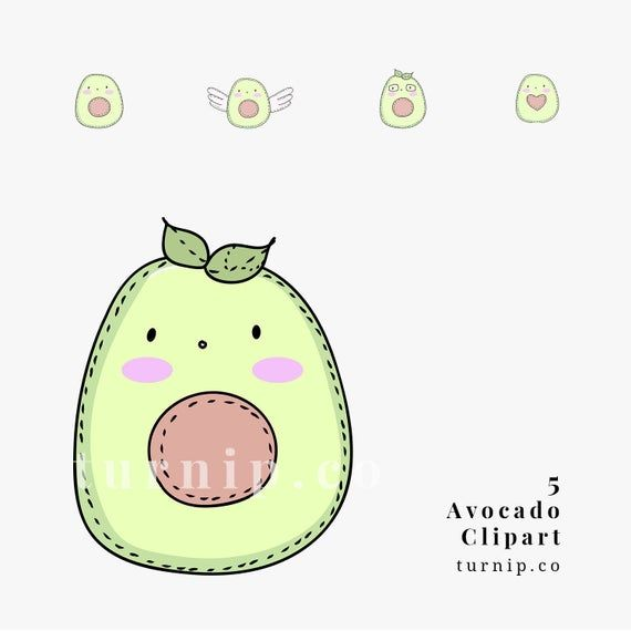 Avocado Clipart Cute Avocado Clipart Avocado Cartoon Image Etsy Cute Avocado Avocado Cartoon Cartoon Images