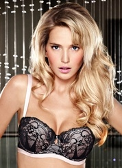 Ultimo Lulu Balconette Gel Bra - Black & Pink