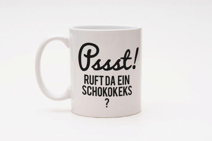Becher & Tassen - 彡CupCup   Typo Tasse   Psst! - ein Designerstück von claus-peter-2 bei DaWanda
