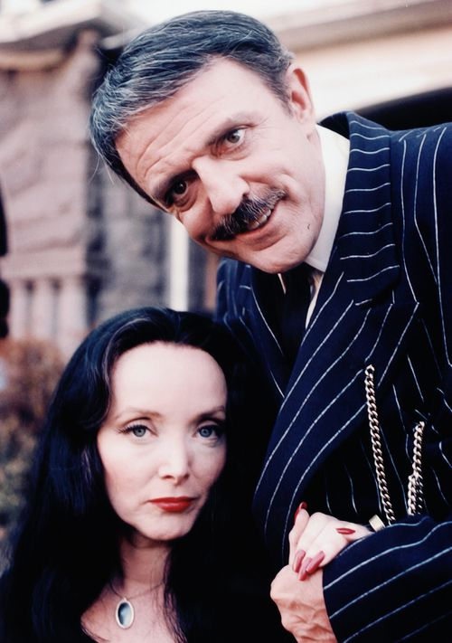 The original television Gomez and Morticia Addams (John Astin  Carolyn Jones) Renunion movie in 1977 at Halloween, wish that it was on DVD!