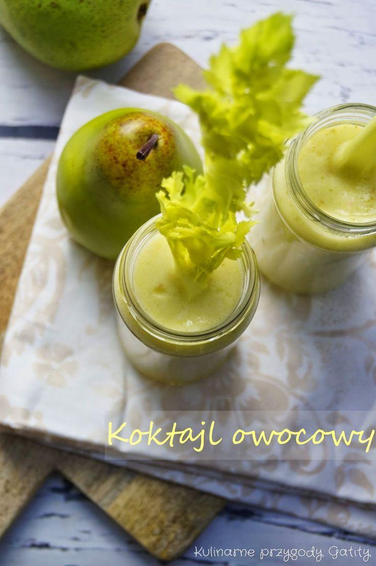 Kulinarne przygody Gatity: Koktajl ananasowo-gruszkowo-jabłkowy
