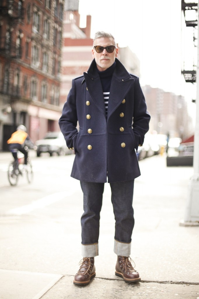 """This is how you go """"all in"""" on a simple striped sweater. (Nick Wooster)"""