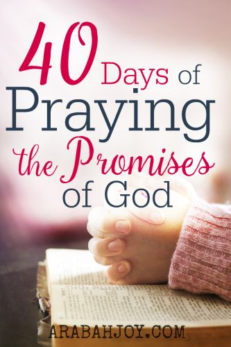 Want to revive your walk with God? Take the challenge to pray one promise from God's word for 40 days and see what happens! FREE PRINTABLE and prayer journal! Click over now to recieve the 40 Days of Praying the Promises of God resource.
