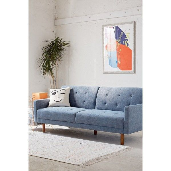 Berwick Mid-Century Sleeper Sofa ($649) ❤ liked on Polyvore featuring home, furniture, sofas, mid century sofa bed, midcentury modern sofa, urban outfitters, tufted sofa sleeper and tufted sleeper sofa