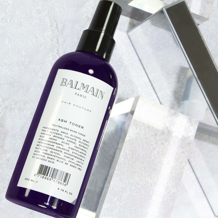 The Ash Toner is a hair lightener enriched with violet hues to create permanent ash blonde tones in highlighted, blonde or color-treated hair. The leave-in formula with deep purple tones, improves clarity, tone and reduces unwanted brassy tones. Sign-up to our newsletter to be the first to know about the launch. www.glamit.co.za/sign-up Photo from Balmain Hair Couture