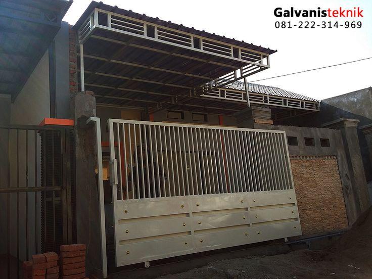 Kanopi minimalis dengan bahan atap zingalume, Rangka besi hollow 4 x 4 medium bervariasi , kami tawarkan dengan harga Rp. 400rb/m . harga tersebut sudah termasuk biaya pemasangan ..