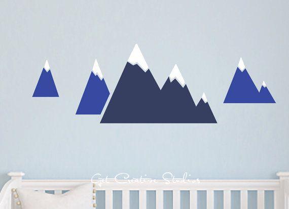 Alpine Mountain Decal Winter Decor Snow by GetCreativeStudios