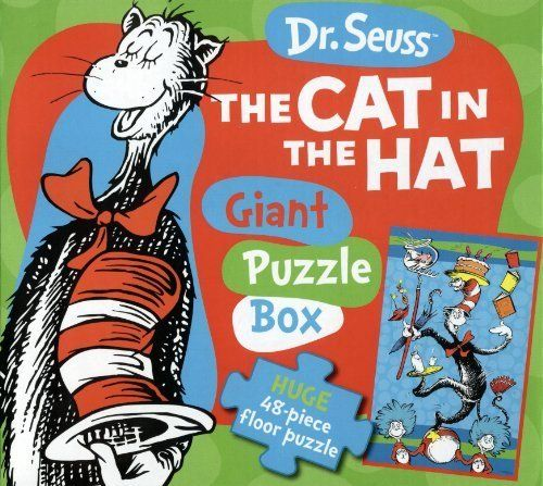 Cat in The Hat Giant Puzzle Book (Green) by JG Press. $8.99. Cool storage box with a handle for easy transport. Green puzzle. Cat in the Hat. From the Manufacturer                A children's classic story comes to life through this giant floor puzzle with oversized pieces. When assembled, children will enjoy a 2' x 3' Dr. Seuss image of this favorite story.                                    Product Description                Piecing together puzzle is a wonderfu...
