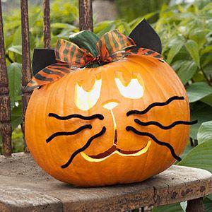 Make Kooky Pumpkin Creatures: Scaredy Cat (via Parents.com)