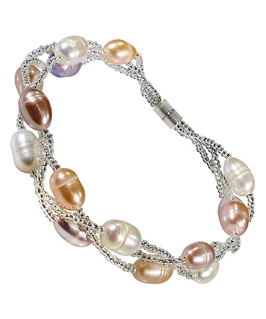REL Jewelers Multi-Tone Freshwater Pearl Triple-Strand Bracelet | zulily