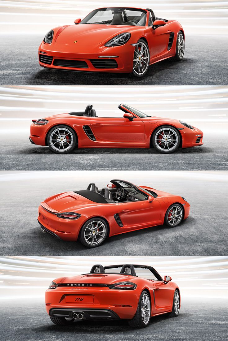Sharp, snappy, clean - inside and out. The design of the new Porsche 718 Boxster is striking, while the rear end with accent trim looks even wider. The exterior design of the new 718 Boxster ushers in a new era for the Boxster with sporty, distinctive edges and clearly defined formal contours.  *Combined fuel consumption in accordance with EU6: 8.1 - 6.9 l/100km; CO2 emissions: 184 - 158 g/km