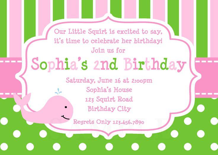 17 best birthday invitation images on Pinterest Birthday cards - invitation birthday template
