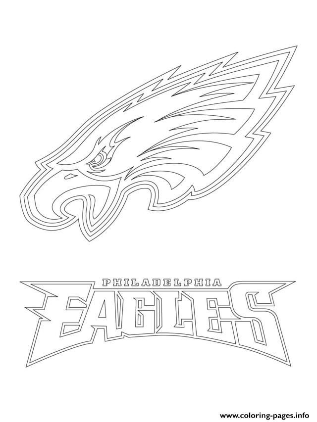 Print philadelphia eagles logo football sport coloring pages