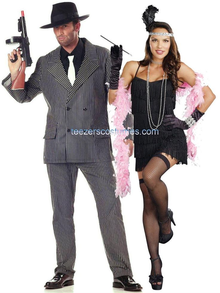 couples costumes for halloween gatsby couples costumes 1920s couples adult halloween costume available at - Halloween Mobster Costumes