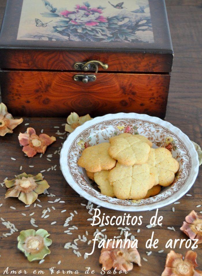 Amor Em Forma De Sabor Biscoitos De Farinha De Arroz Em 2020