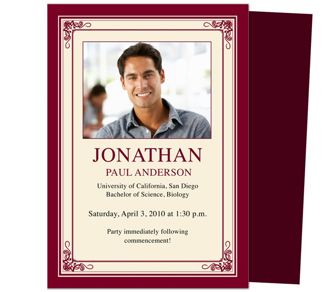 62 best Graduation Invitations images on Pinterest Computers - funeral invitation templates
