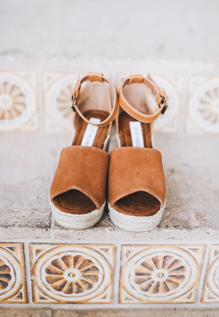 Espadrille wedges under $65!