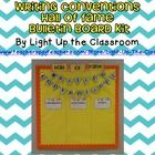 Writing Conventions Hal of Fame bulletin board kit