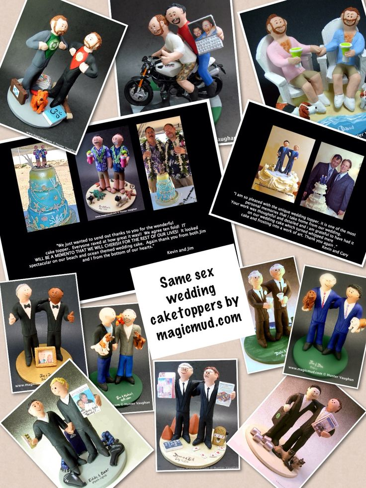 wedding cake toppers for Two Gay Men by www.magicmud.com 1 800 231 9814 magicmud@magicmud... blog.magicmud.com twitter.com/... $235 #gay #gays #samesex #rainbowwedding #homosexual #wedding #cake #toppers #custom #personalized #Groom #bride #anniversary #birthday #weddingcaketoppers #caketoppers #figurine #gift http://custom-wedding-cake-toppers.tumblr.com/ http://instagram.com/weddingcaketoppers https://www.facebook.com/PersonalizedWeddingCakeToppers https://twitter.com/caketoppers