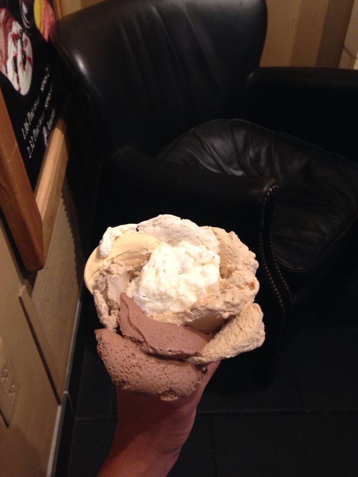 Rose shaped Gelato from Amorino Gelato