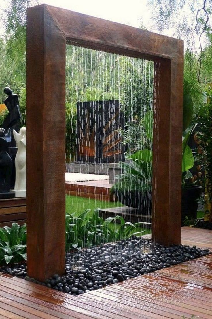 Diy patio water wall the interior frugalista diy patio water wall - These Beautiful Water Walls Look Amazing And Will Bring Energy And Peace To Your Space
