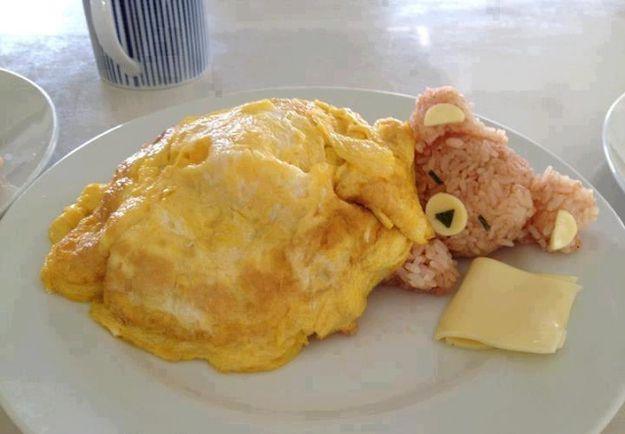 Sleeping Bear With Egg Blanket