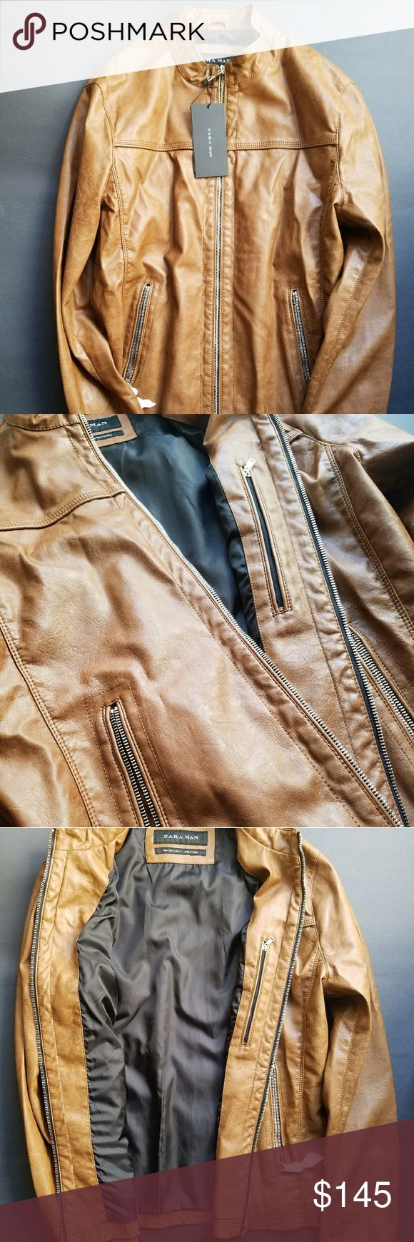 🚨🚨ONE DAY JACKET WEAR SALE🚨🚨 🚨🚨PRICE AS SHOWN🚨PRICE HAS ALREADY BEEN MARKED DOWN 🚨🚨 Leather men's jacket Zara Jackets & Coats Performance Jackets